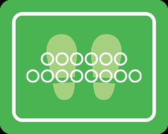ソーシャルディスタンス用のフロア誘導シール(長方形:サイズ大)【FL-D-0107】