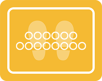 ソーシャルディスタンス用のフロア誘導シール(長方形:サイズ大)【FL-D-0108】