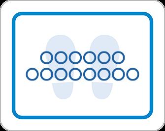 ソーシャルディスタンス用のフロア誘導シール(長方形:サイズ大)【FL-D-0110】