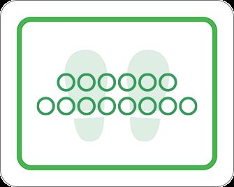 ソーシャルディスタンス用のフロア誘導シール(長方形:サイズ大)【FL-D-0111】