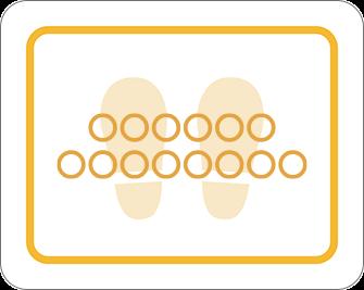 ソーシャルディスタンス用のフロア誘導シール(長方形:サイズ大)【FL-D-0112】