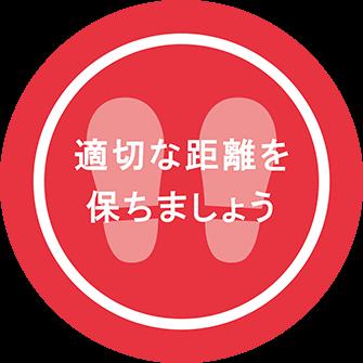 ソーシャルディスタンス用のフロア誘導シール(円形:サイズ小)【FL-D-0185】