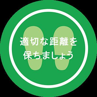 ソーシャルディスタンス用のフロア誘導シール(円形:サイズ小)【FL-D-0187】