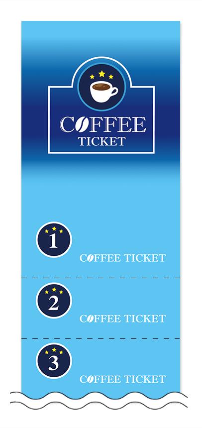 コーヒーの回数券6枚綴りデザインテンプレート0003