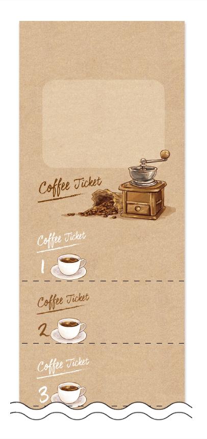 コーヒー回数券デザインテンプレート画像0011