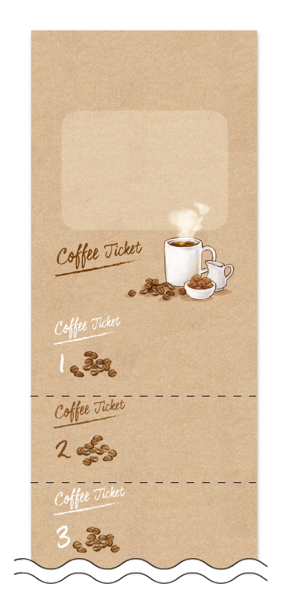 コーヒー回数券デザインテンプレート画像0012