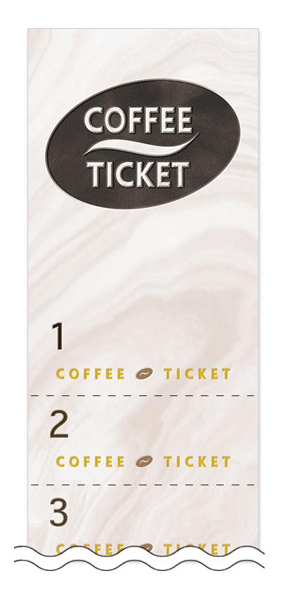 コーヒーの回数券6枚綴りデザインテンプレート0013