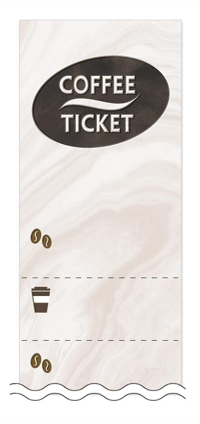 コーヒーの回数券6枚綴りデザインテンプレート0014