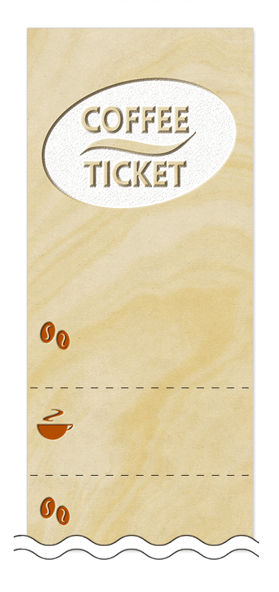 コーヒー回数券デザインテンプレート画像0016