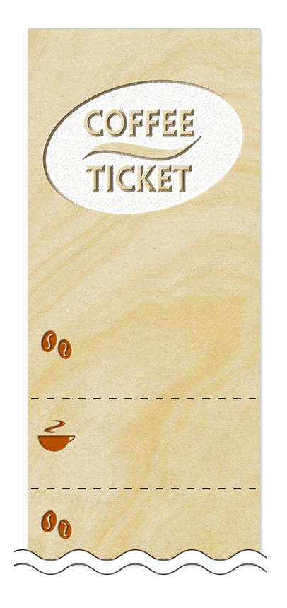 コーヒーの回数券6枚綴りデザインテンプレート0016