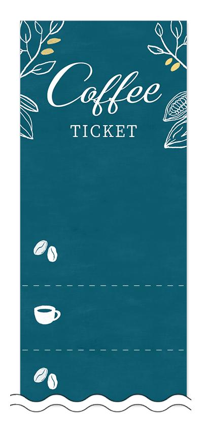コーヒーの回数券6枚綴りデザインテンプレート0018