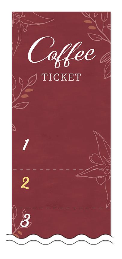 コーヒーの回数券6枚綴りデザインテンプレート0019