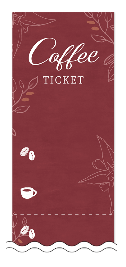 コーヒー回数券デザインテンプレート画像0020