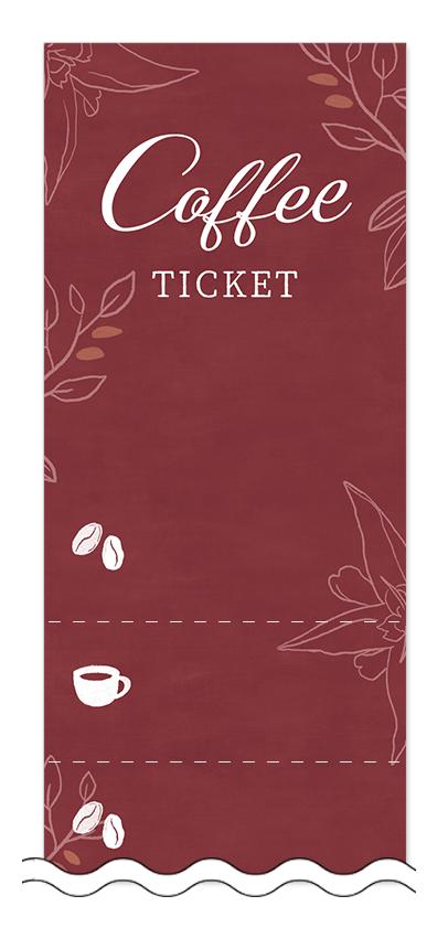 コーヒーの回数券6枚綴りデザインテンプレート0020