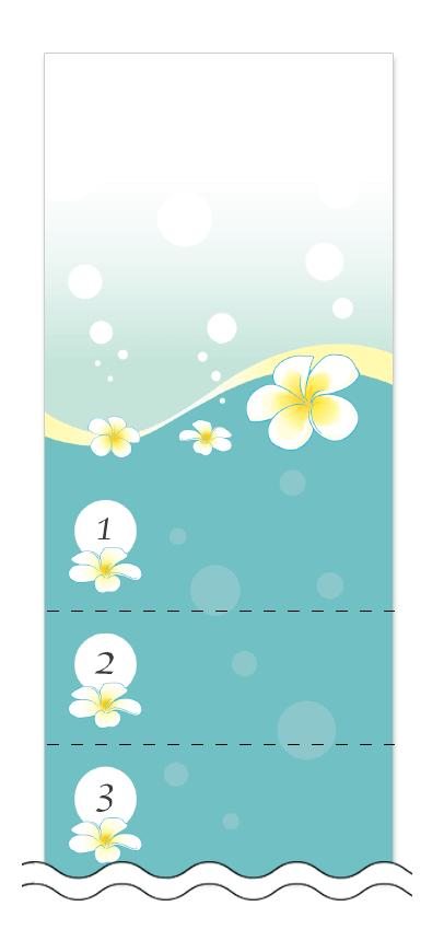 美容・ビューティーの回数券 6枚綴りデザインテンプレート0003