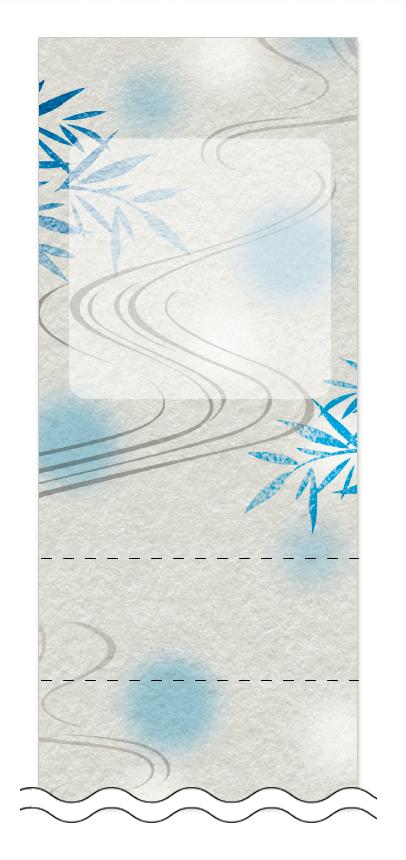 夏・涼・星空・ホタルの回数券6枚綴りデザインテンプレート0010