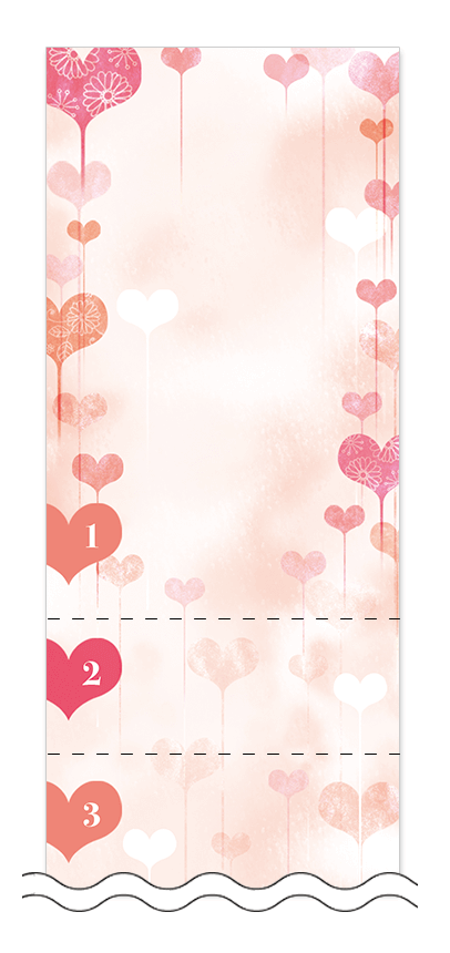 フリーデザイン「ハート・チョコレート」回数券テンプレート画像0017