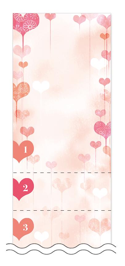 ハート・チョコレートの回数券6枚綴りデザインテンプレート0017