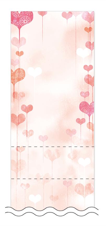 フリーデザイン「ハート・チョコレート」回数券テンプレート画像0018