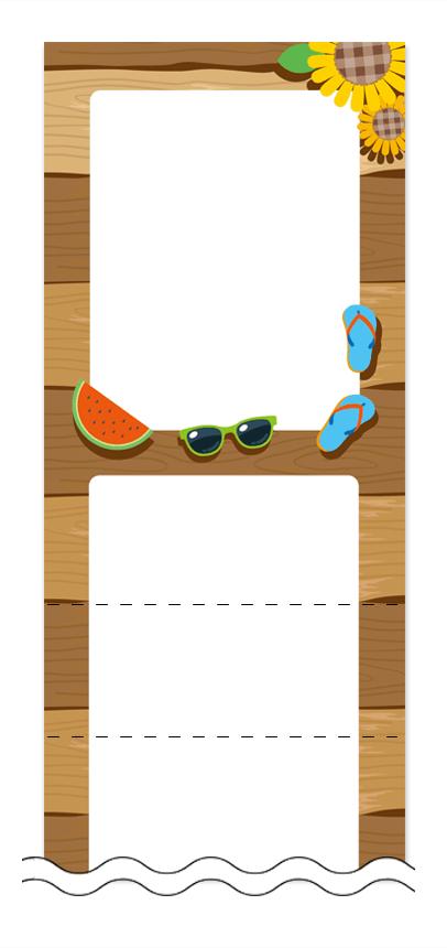 フリーデザイン「夏・涼・星空・ホタル」回数券テンプレート画像0034