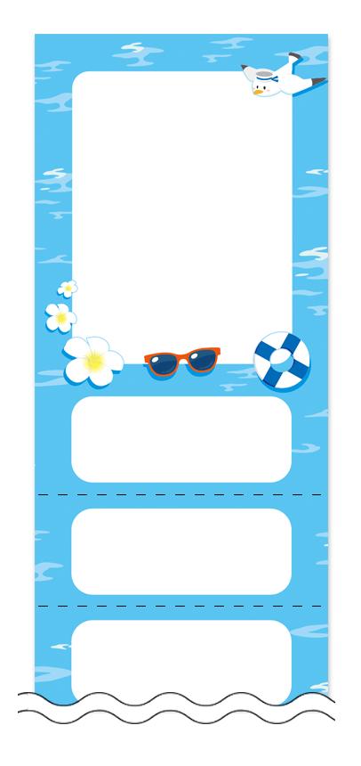 フリーデザイン「夏・涼・星空・ホタル」回数券テンプレート画像0036