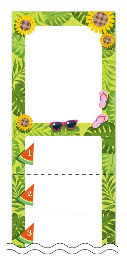 フリーデザイン「夏・涼・星空・ホタル」回数券テンプレート画像0037