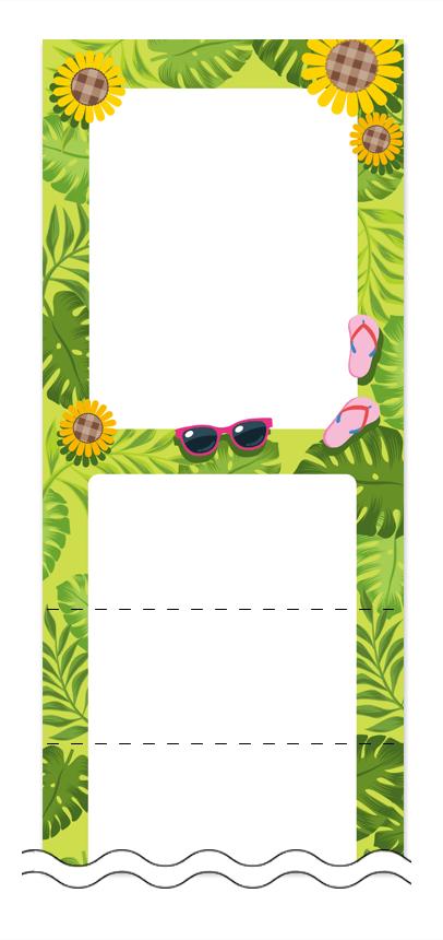 夏・涼・星空・ホタルの回数券6枚綴りデザインテンプレート0038