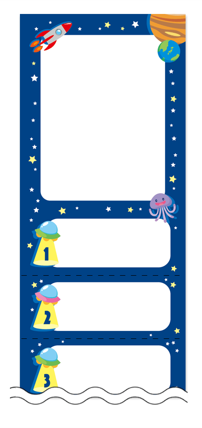 夏・涼・星空・ホタルの回数券6枚綴りデザインテンプレート0039