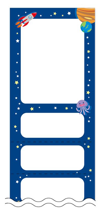 夏・涼・星空・ホタルの回数券6枚綴りデザインテンプレート0040