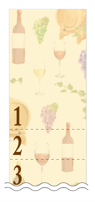 フリーデザイン「ビール・ワイン・日本酒」回数券テンプレート画像0043