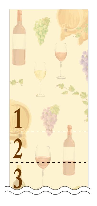 ビール・ワイン・日本酒の回数券 6枚綴りデザインテンプレート0043