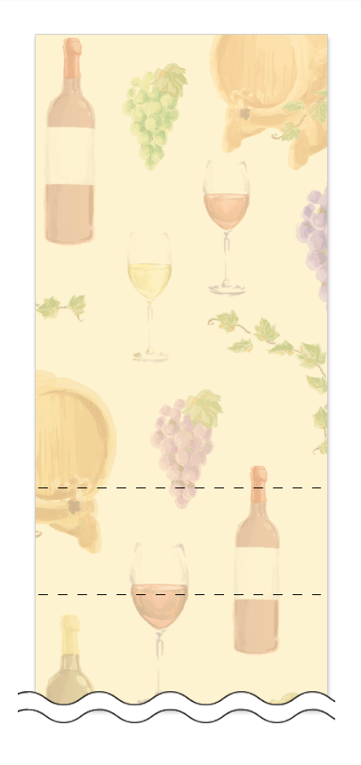 ビール・ワイン・日本酒の回数券 6枚綴りデザインテンプレート0044
