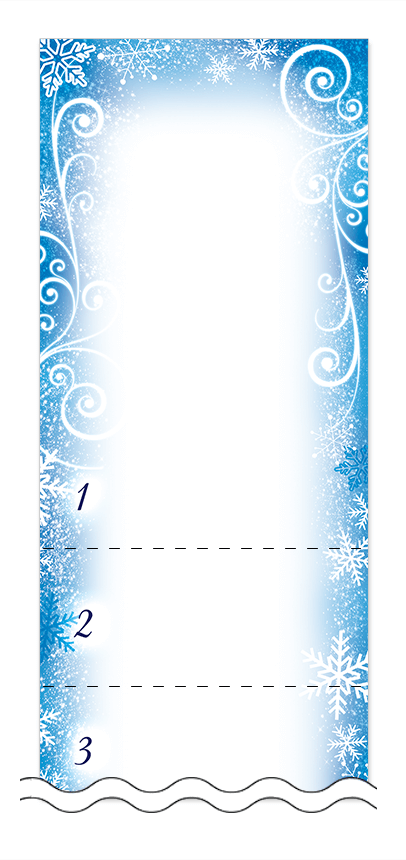 フリーデザイン「冬・雪・クリスマス」回数券テンプレート画像0045