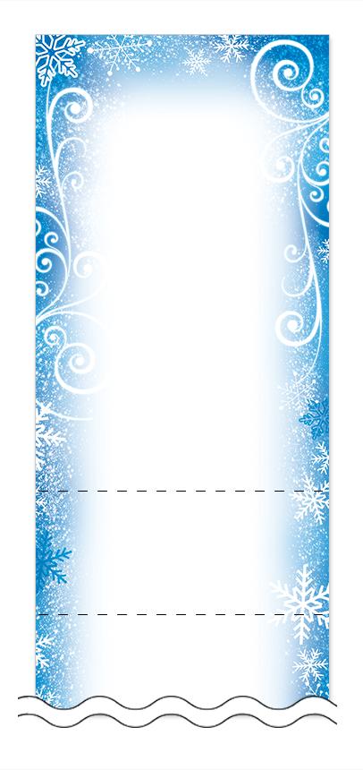 冬・雪・クリスマスの回数券6枚綴りデザインテンプレート0046