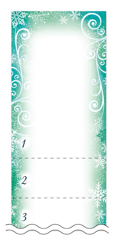 冬・雪・クリスマスの回数券6枚綴りデザインテンプレート0047