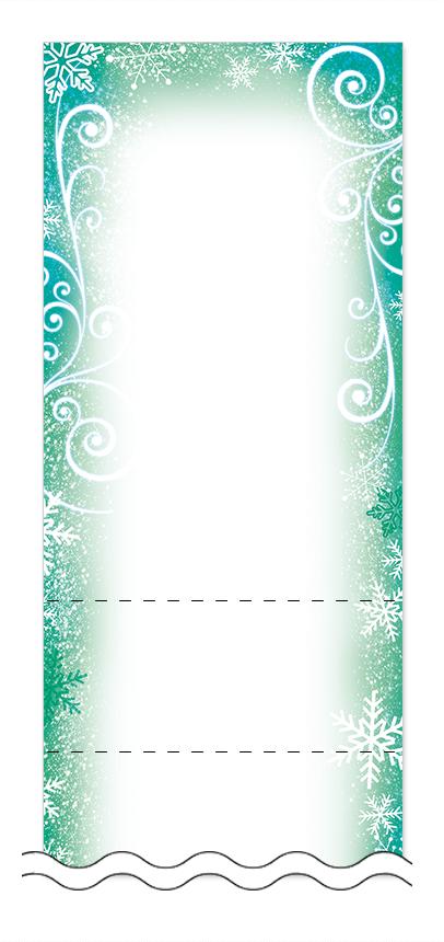 冬・雪・クリスマスの回数券6枚綴りデザインテンプレート0048