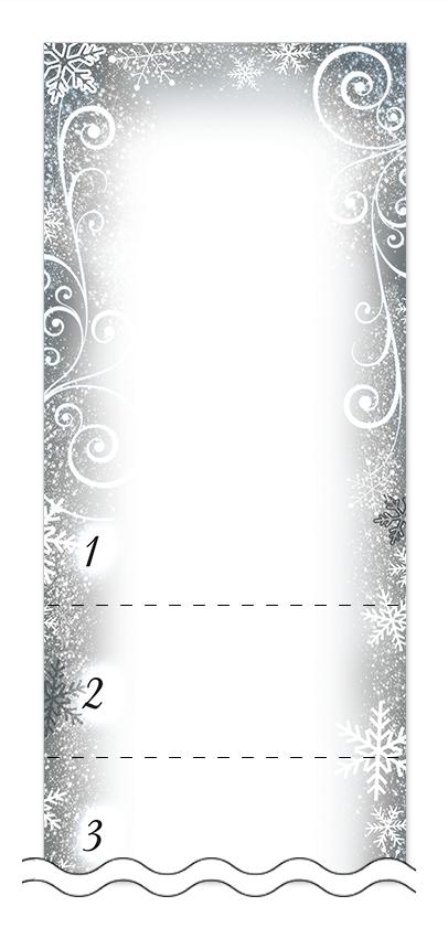 冬・雪・クリスマスの回数券6枚綴りデザインテンプレート0051