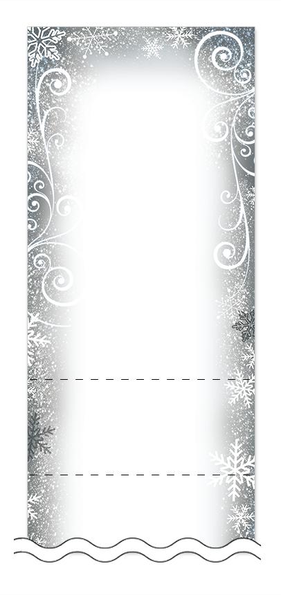 冬・雪・クリスマスの回数券6枚綴りデザインテンプレート0052