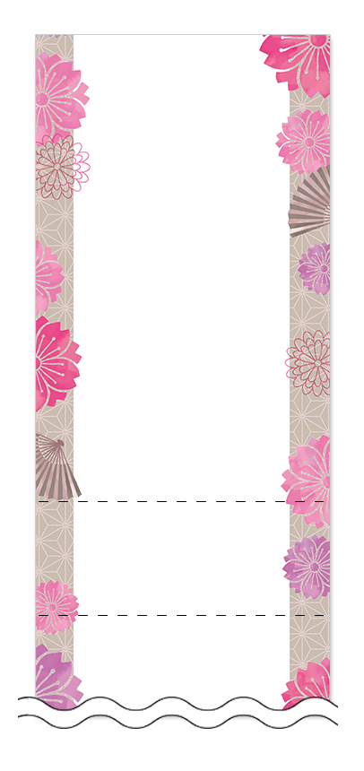 フリーデザイン「お正月・和風デザイン」回数券テンプレート画像0068