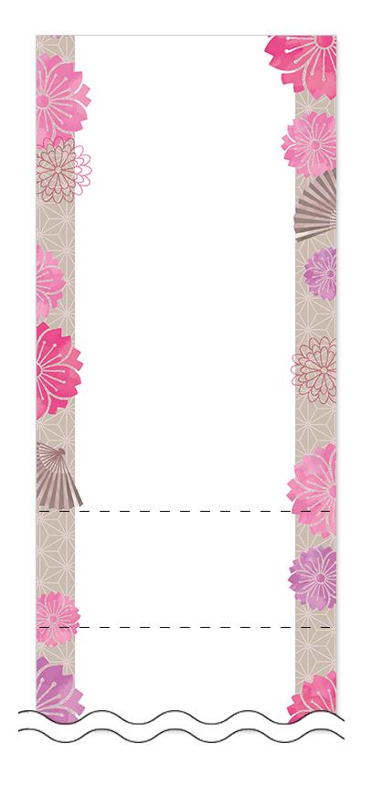 お正月・和風デザインの回数券6枚綴りデザインテンプレート0068