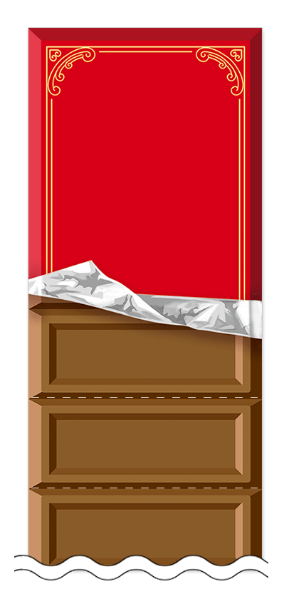 フリーデザイン「ハート・チョコレート」回数券テンプレート画像0070
