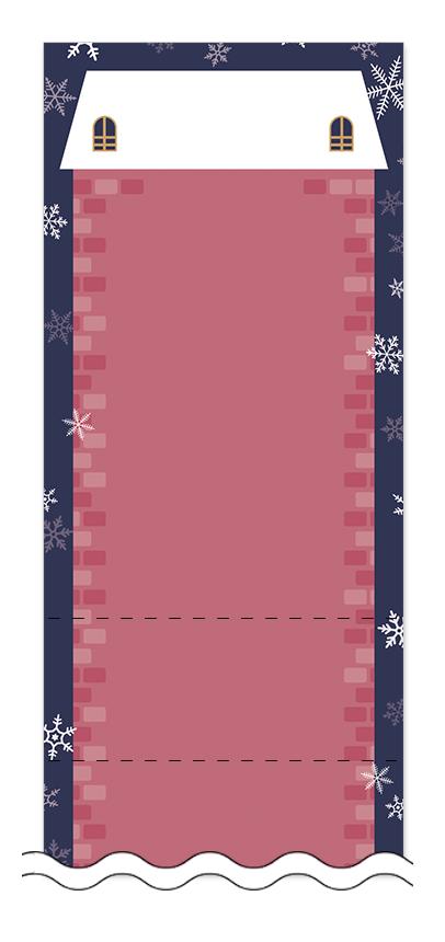 冬・雪・クリスマスの回数券6枚綴りデザインテンプレート0096