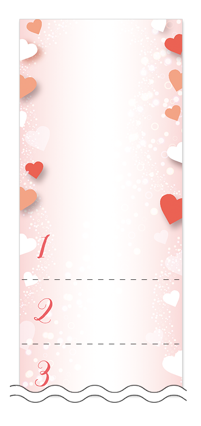 ハート・チョコレートの回数券6枚綴りデザインテンプレート0097