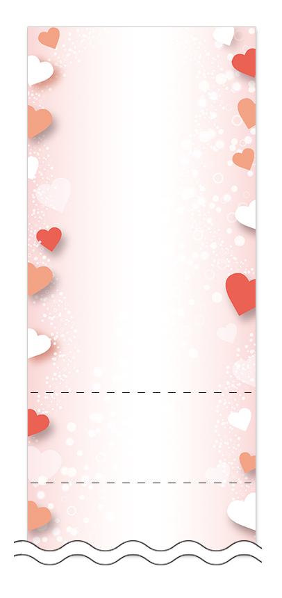 ハート・チョコレートの回数券6枚綴りデザインテンプレート0098