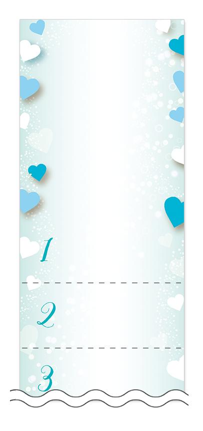 ハート・チョコレートの回数券6枚綴りデザインテンプレート0099