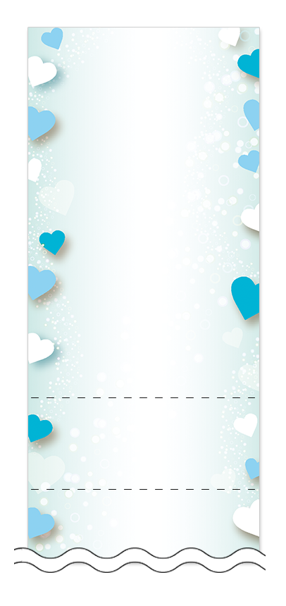 ハート・チョコレートの回数券6枚綴りデザインテンプレート0100