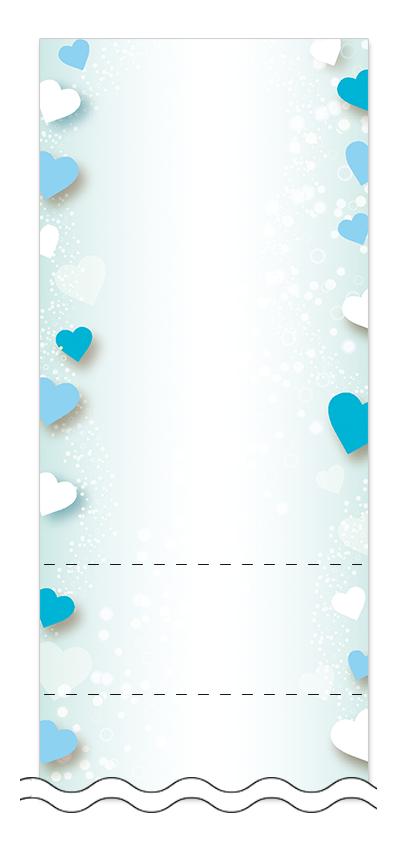 フリーデザイン「ハート・チョコレート」回数券テンプレート画像0100