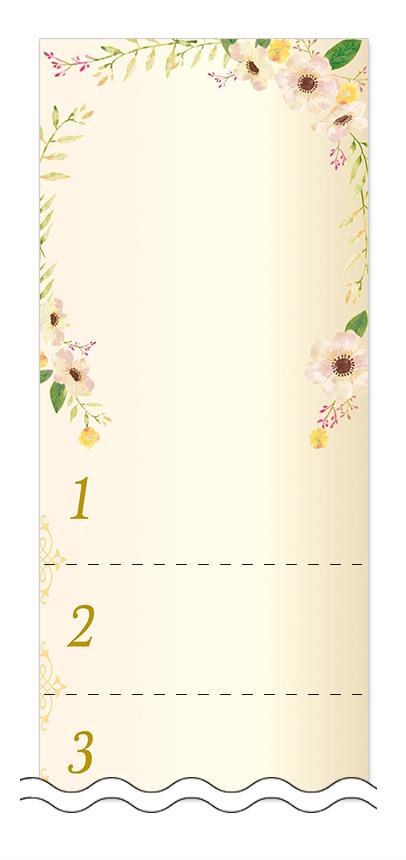 美容・ビューティーの回数券 6枚綴りデザインテンプレート0101