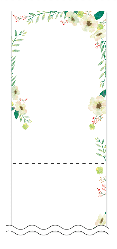 美容・ビューティーの回数券 6枚綴りデザインテンプレート0102