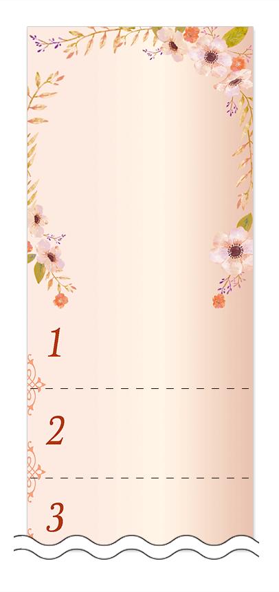 美容・ビューティーの回数券 6枚綴りデザインテンプレート0103